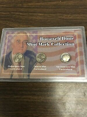 Roosevelt Dime Mint Mark Collection