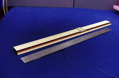 Scarce  K&e  Vintage 20 In. Polyphase Slide Rule N4053-5 Overall Very Good Cond.