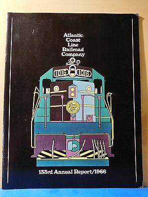 Atlantic Coast Line Railroad Company 133rd Annual Report 1966 SC 28 Pages