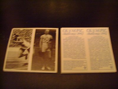 Olympic Challenge 1992 Double Card Full Set By Brooke Bond