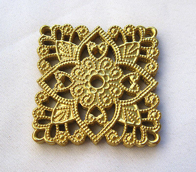 Square Flower Filigree Stamping Filigree Findings Jewelry Making bf145 (10pcs)