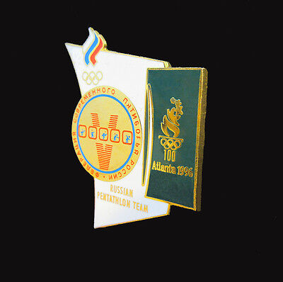 Russian Pentathlon Team Badge Pin - Pentathlon Events - Atlanta Summer Olympics