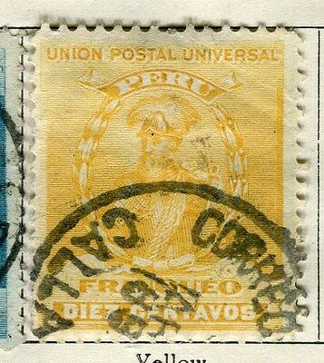 PERU;   1896 early classic issue fine used  10c. value
