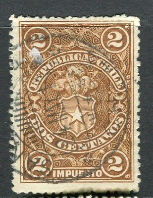 PERU;   1890s early classic Fiscal issue fine used 2c. value