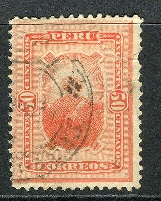 PERU;  1884 early classic issue fine used 50c. value