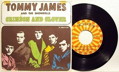 TOMMY JAMES-CRIMSON AND CLOVER/ DO SOMETHING TO ME-RARE 45 g.1969