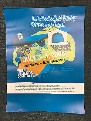 2008 Mississippi Valley Blues Festival Poster-24th Annual-Davenport, Iowa