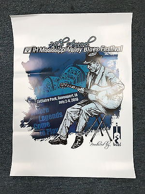 2010 Mississippi Valley Blues Festival Poster-26th Annual-Davenport, Iowa