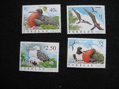 Tokelau: 2004 Lesser Frigatebird set of 4 UMM