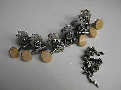 Vintage Waverly Gretsch Guitar Set of 6 Tuners for Your Project / Repair 7