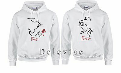 His Beauty And Her Beast Valentine Cute matching Hoodie Sweatshirt S-3XL