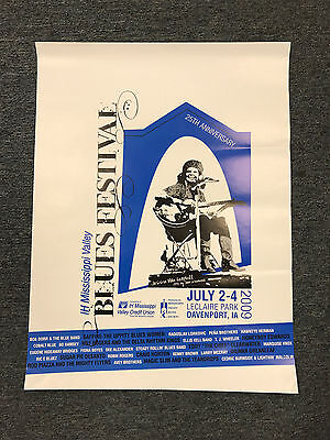 2009 Mississippi Valley Blues Festival Poster-25th Annual-Davenport, Iowa