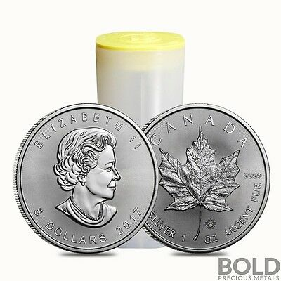 2017 Silver Canadian $5 Maple Leaf .9999 BU - 1 oz (25 Coin Tube)