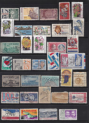 USA Large Selection of Commemorative Stamps Used 3 SCANS (USA28011)