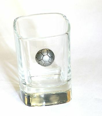 Football  Pewter Design Crystal Shot Tot Glass Ideal Gift  Award Present