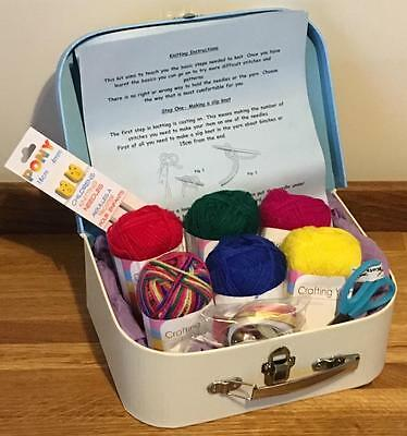 Children's Complete Beginner Knitting Kit Ideal Gift Good Quality 11 Box Styles