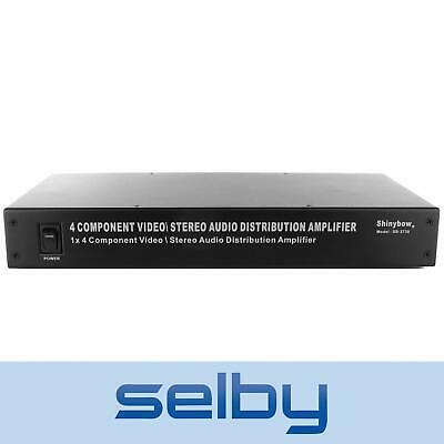 Shinybow SB3730 1 in 4 out Component Video & Stereo Audio Distribution Amplifier