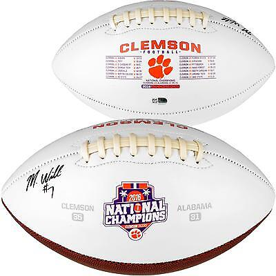 Mike Williams Clemson Tigers 2016 College Football National Champs Signed Ball
