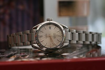Omega Seamaster Aqua Terra 2006 Silver Face Stainless Steel Ladies 29mm 9.5/10