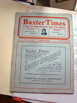Baxter Times: A Journal for Nineteenth Century Colour Print Collectors book