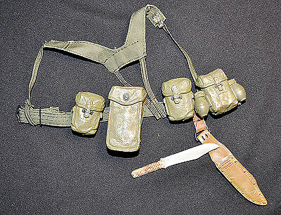 1/6 scale DRAGON MODERN - EQUIPMENT W/ BELT, HARNESS, KNIFE AND MORE (REF.: 001)