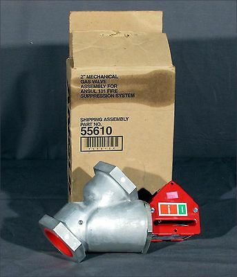 """New Ansul 55610 2"""" Gas Valve For 101 Fire Suppression System"""