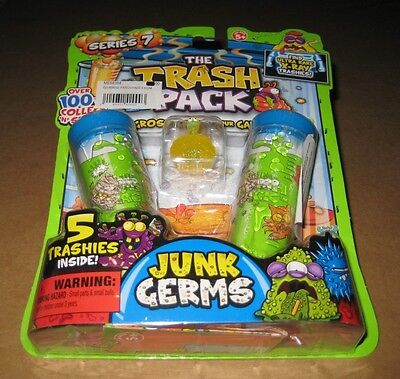 The Trash Pack Series 7 - Junk Germs 5 Trashies Inside, New, Unopened! Tape Worm