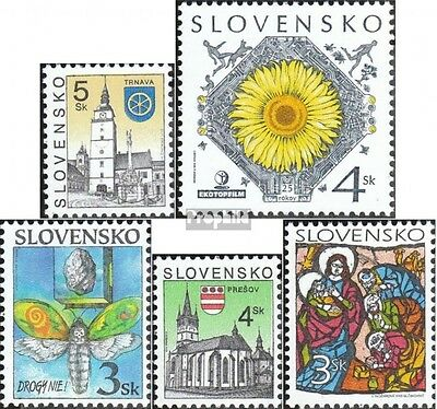 Slovakia 320,322,323,326,327 (complete.issue.) unmounted mint / never hinged 199