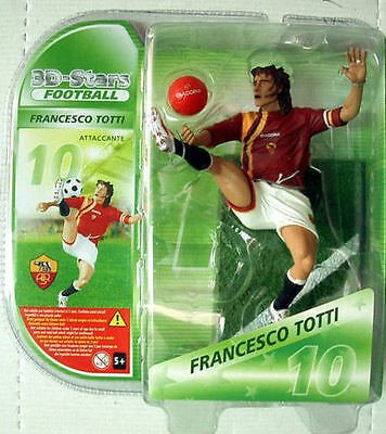3D STARS FOOTBALL  calciatori ROMA FRANCESCO TOTTI ACTION FIGURE 18 cm
