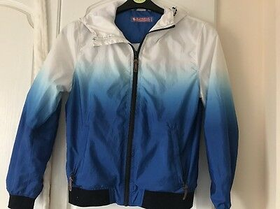Blue And White Next Rain Jacket Aged 11 Years