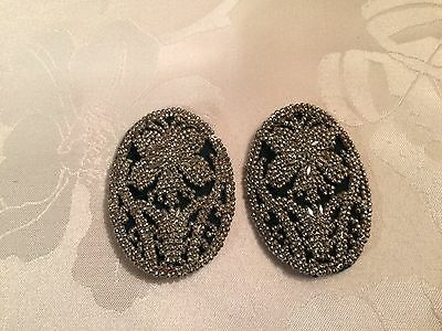 Pair of Antique French Victorian Cut Steel Belt / Shoe Buckles  - Lot 6
