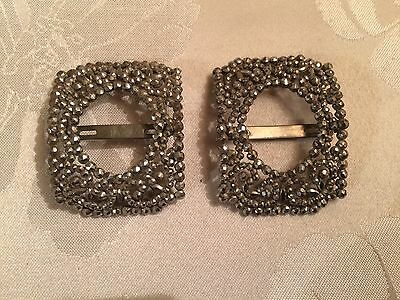 Pair of Antique French Victorian Cut Steel Belt / Shoe Buckles  - Lot 20