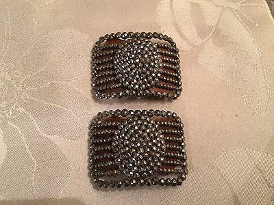 Pair of Antique French Victorian Cut Steel Belt / Shoe Buckles  - Lot 24