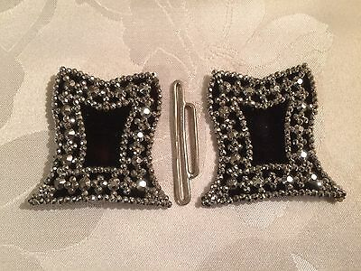 Pair of Antique French Victorian Cut Steel Belt / Shoe Buckles  - Lot 10