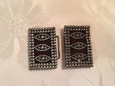Pair of Antique French Victorian Cut Steel Belt / Shoe Buckles  - Lot 11