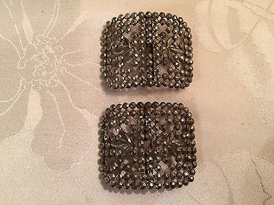 Pair of Antique French Victorian Cut Steel Belt / Shoe Buckles  - Lot 19
