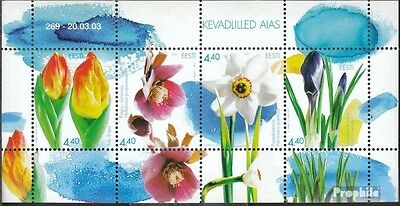 Estonia block19 (complete.issue.) unmounted mint / never hinged 2003 Flowers