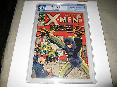 The X-Men #14 1965  Pgx Universal 6.0  1St Appearance Of The Sentinels