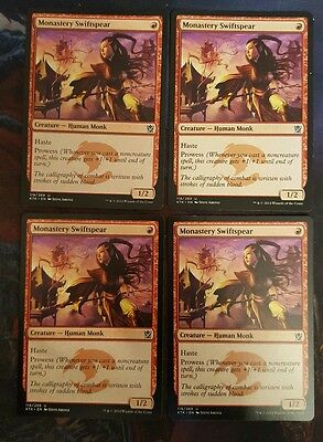 Mtg Monastery swiftspear   x 4 good condition