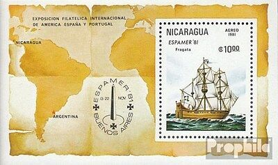 Nicaragua block140 (complete.issue.) unmounted mint / never hinged 1981 ESPAMER
