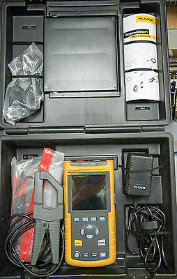 Fluke 43B with 80i-500s Current Probe and case