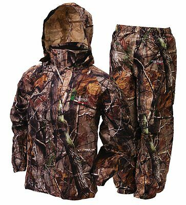 Frogg Toggs All Sports Jacket & Pants Realtree Xtra Hunting Camo Rain Suit Sm