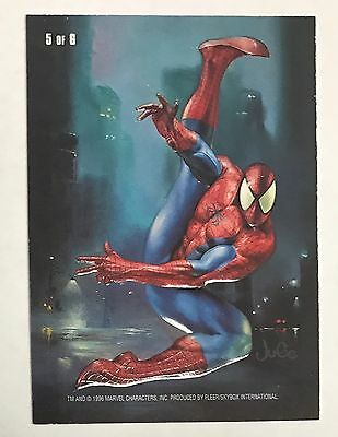 1996 Marvel Masterpieces Double Impact #5 Storm & Spider-Man