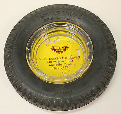 Vintage Tire Ashtray, Seiberling Tires