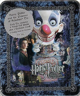 Harry Potter Prisoner Of Azkaban Poa 2004 Artbox Collectible Tin & 4 Pks Clown