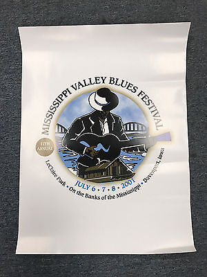 2001 Mississippi Valley Blues Festival Poster-17th Annual-Davenport, Iowa