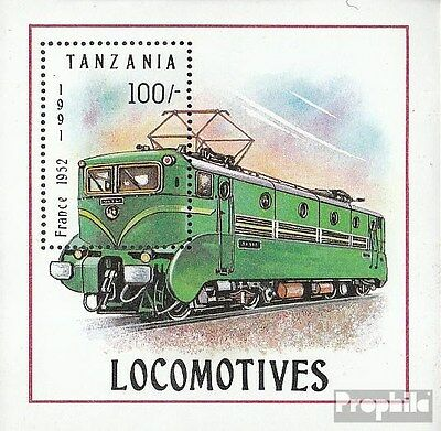 Tanzania block165 (complete.issue.) unmounted mint / never hinged 1991 Locomotiv
