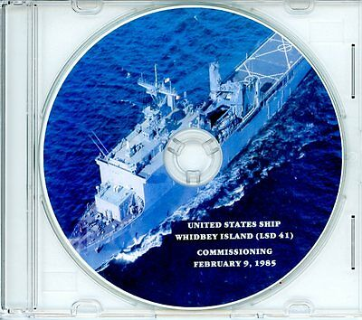 USS Whidbey Island LSD 41 Commissioning Program 1985 on CD Navy Plank Owners