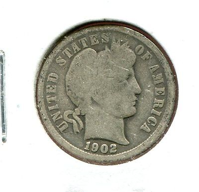 1902 P Barber/Liberty Head 90% Silver Dime  (Combined Shipping $2.95)