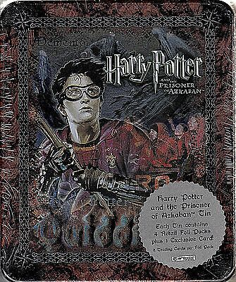 Harry Potter Prisoner Of Azkaban Poa 2004 Artbox Collectible Tin & 4 Pks Harry